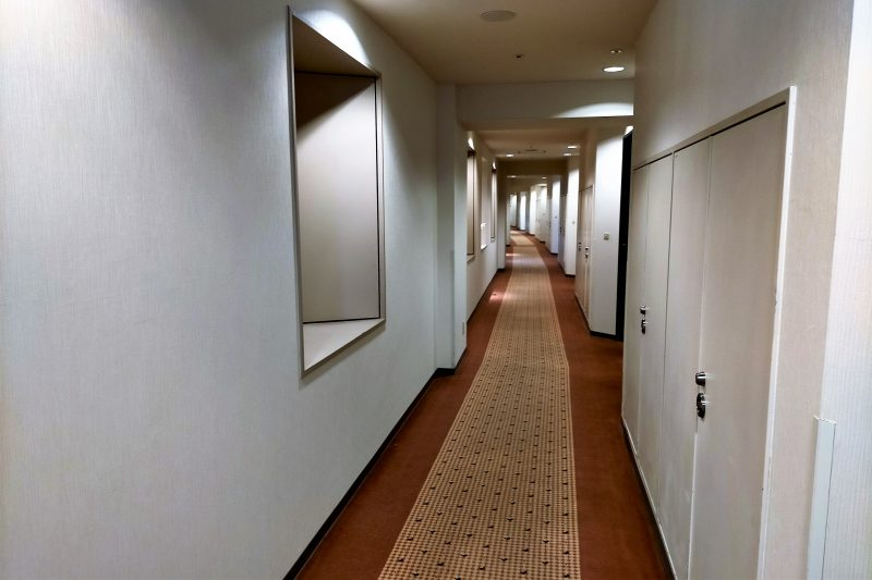 エアターミナルホテルの廊下