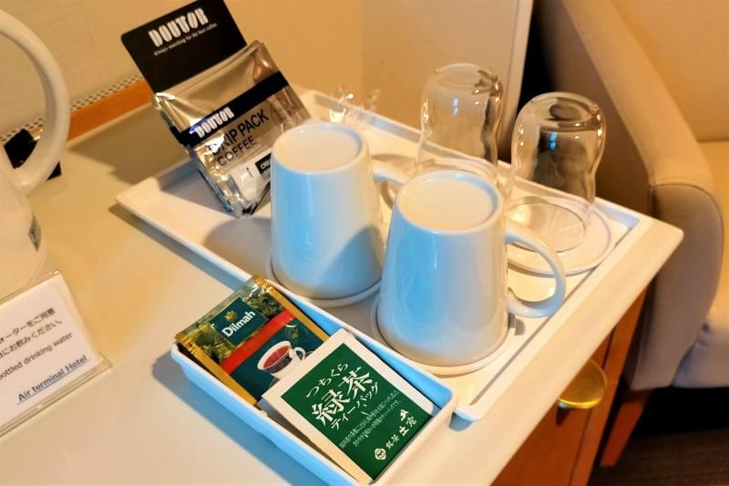 エアターミナルホテルのお茶など