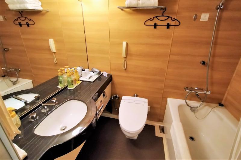 エアターミナルホテルの浴室