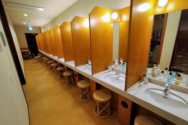 新千歳空港温泉のパウダールーム