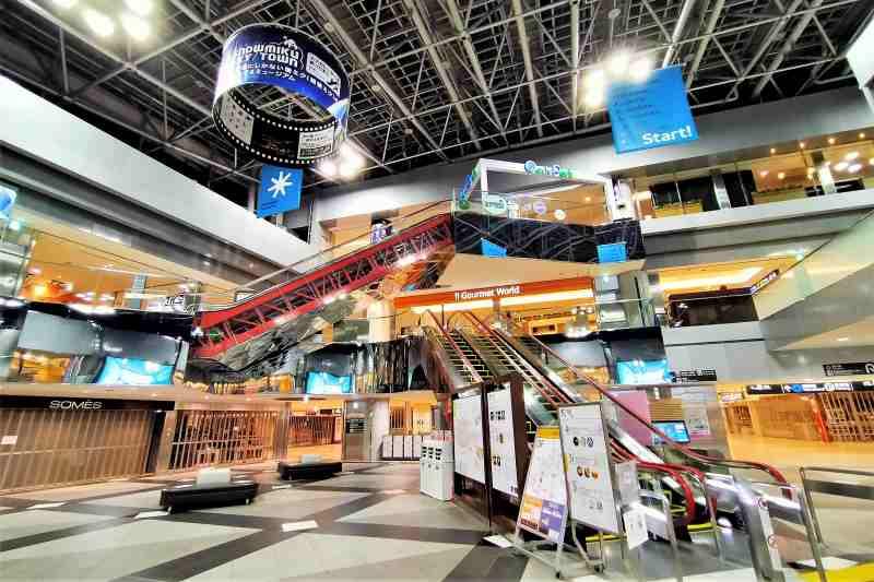 ターミナルビル内のセンタープラザ