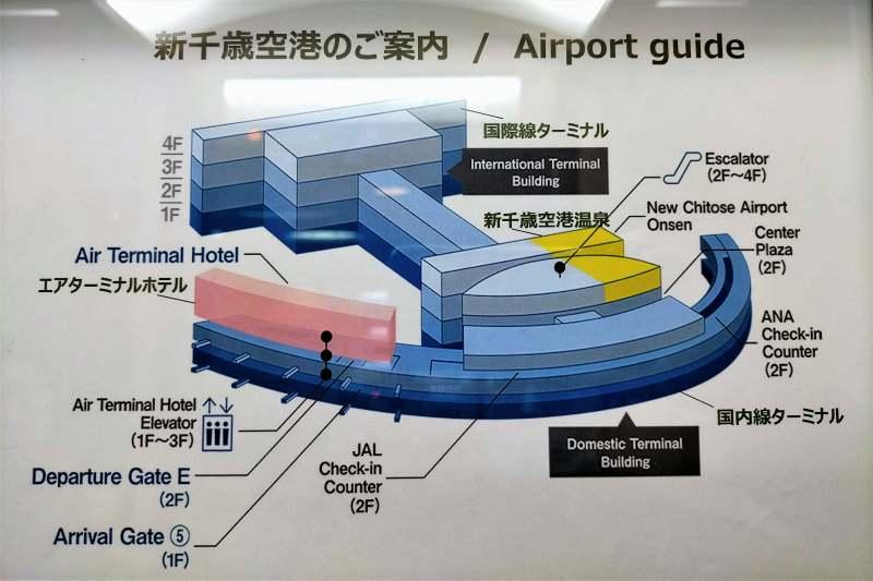 新千歳空港ターミナルビルの全体図