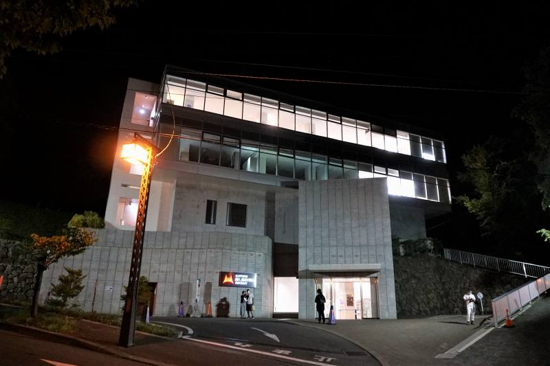夜の札幌もいわ山ロープウェー乗り場