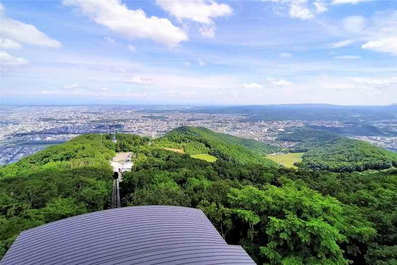 藻岩山展望台からの景色