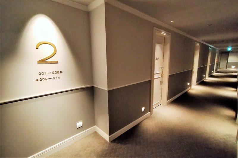 アンワインドホテル小樽 2階廊下