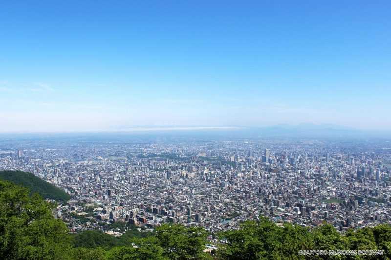 藻岩山展望台からの風景