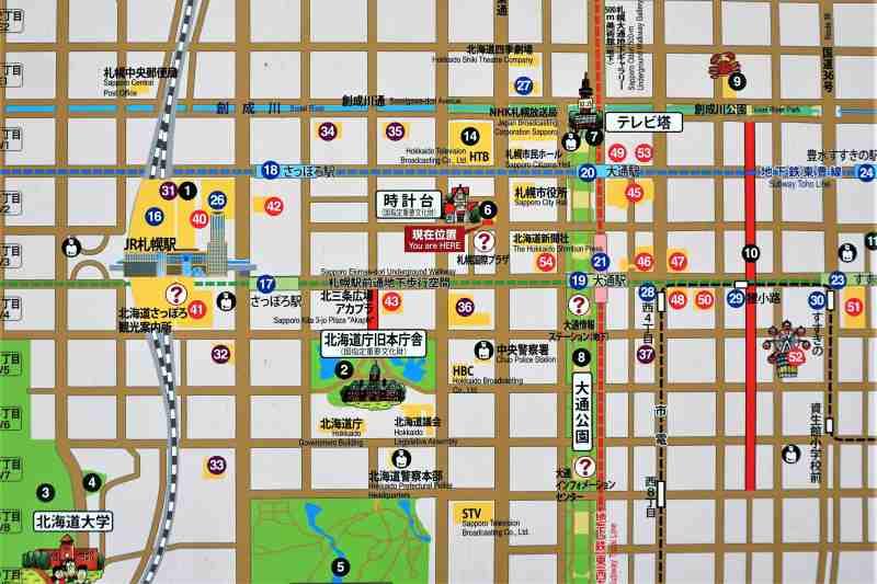 札幌中心部 地図