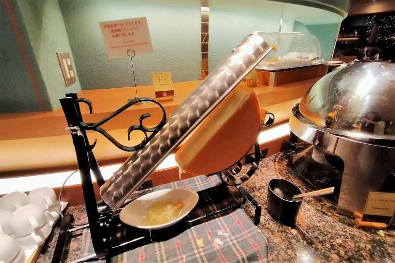 十勝川温泉第一ホテル ラクレットチーズ