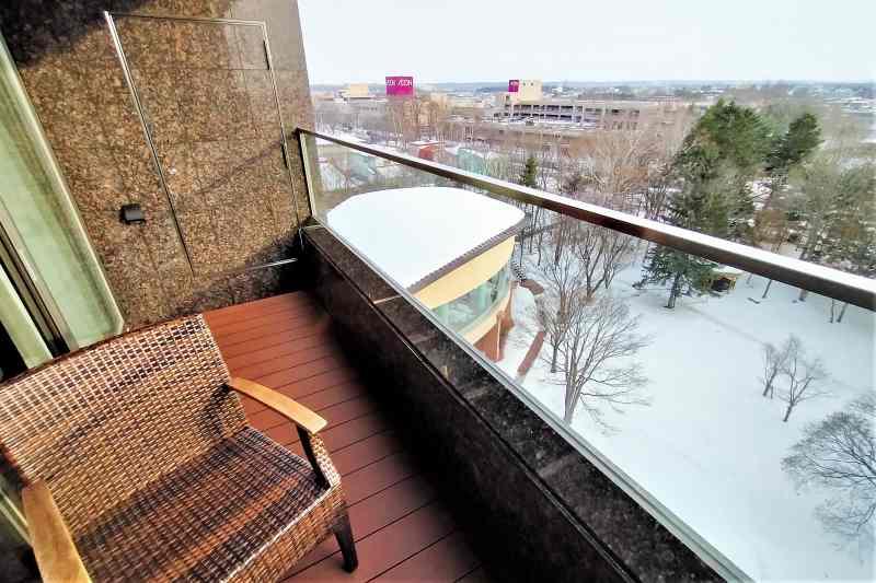 森のスパリゾート北海道ホテル バルコニー