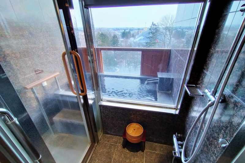 森のスパリゾート北海道ホテル 客室露天風呂