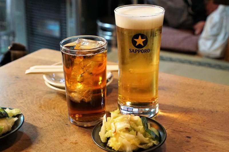 ぎんねこ ビールとお通し