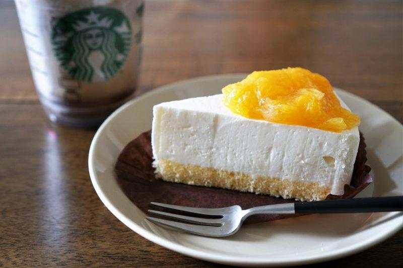 スターバックス オレンジ&レアチーズケーキ(デリバリー)