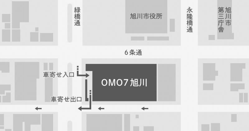 OMO7旭川 駐車場配置図