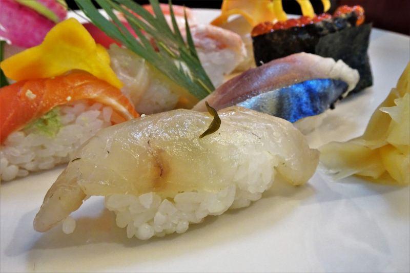 寿し処わさび お寿司のアップ