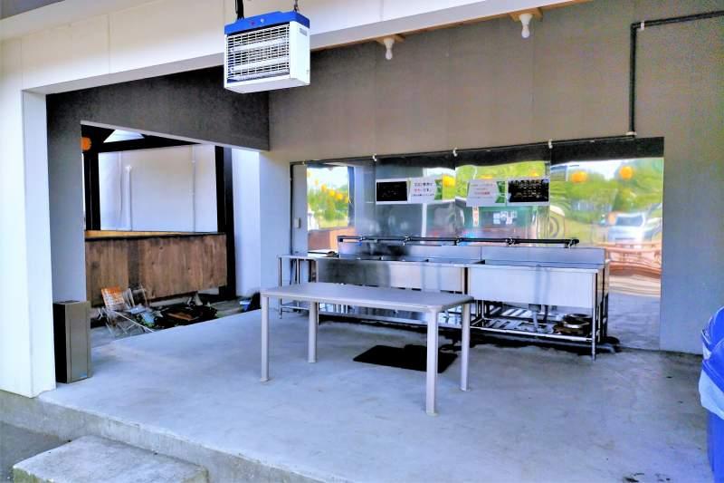 栗山さくらキャンプ場の炊事場