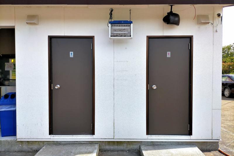 栗山さくらキャンプ場のトイレ