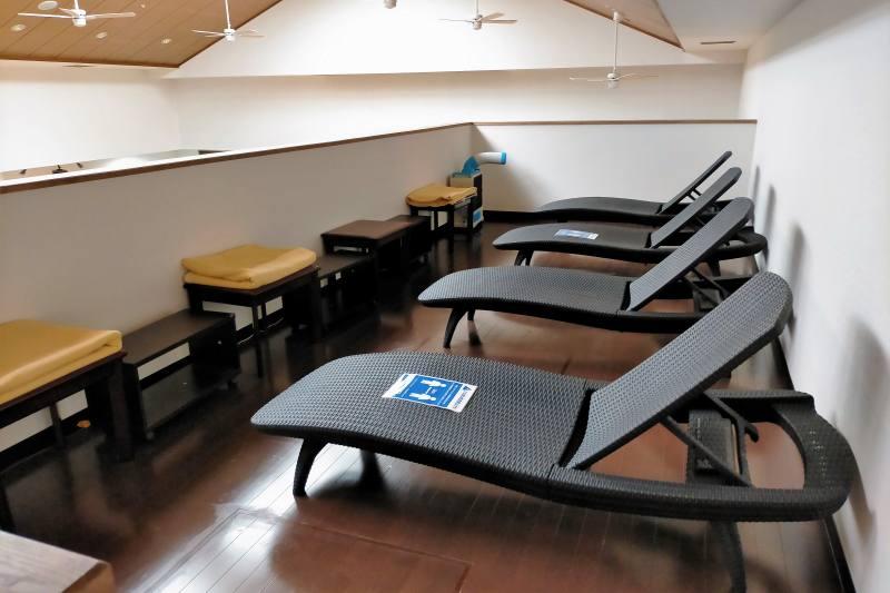 くりやま温泉のリラクゼーションルーム