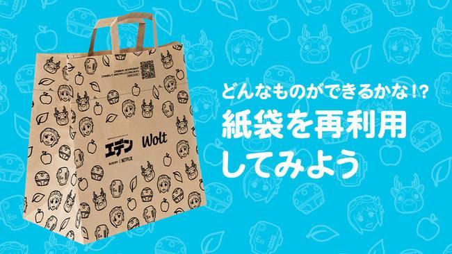 エデン×Wolt コラボ紙袋