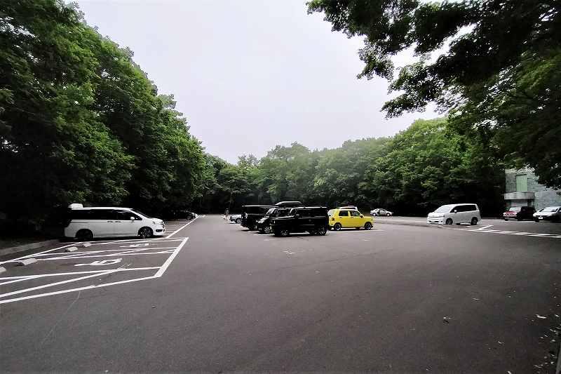 東大沼キャンプ場の駐車場