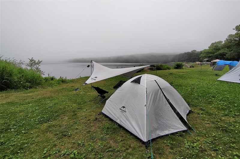 東大沼キャンプ場のテントサイト