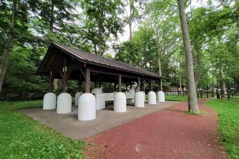 東大沼キャンプ場の炊事場