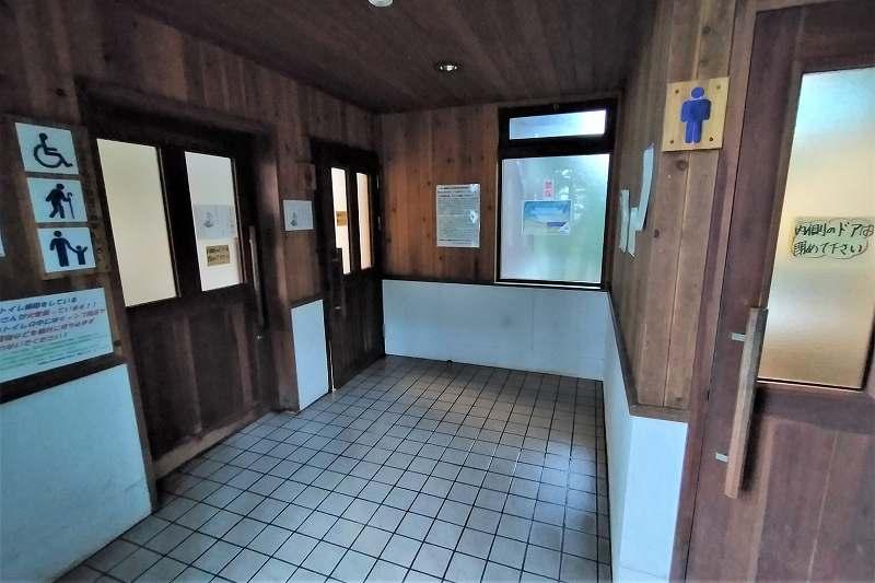 東大沼キャンプ場のトイレ