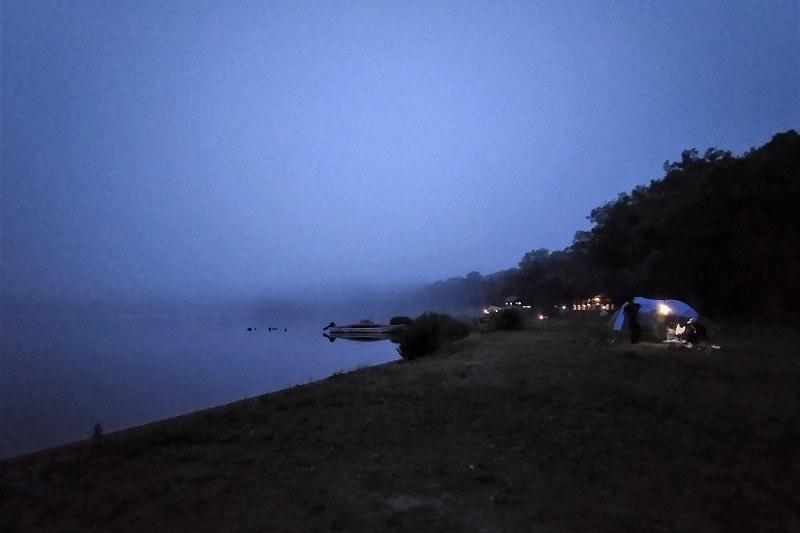 東大沼キャンプ場の夜