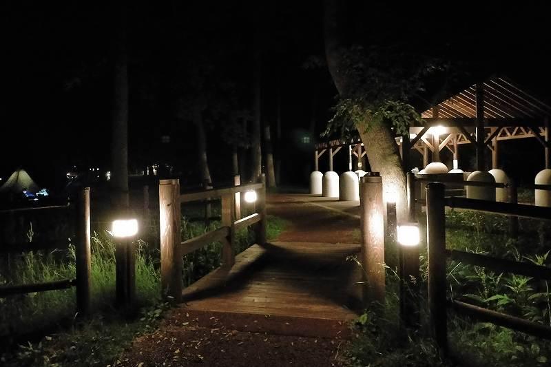 夜の東大沼キャンプ場