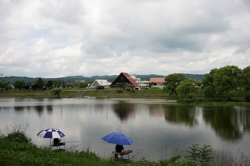 皆楽公園キャンプ場の池