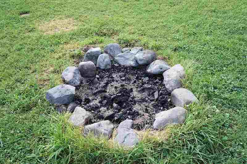 星に手のとどく丘キャンプ場の直炉