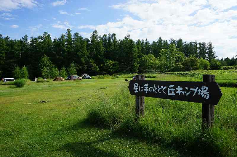 星に手のとどく丘キャンプ場のテントサイト