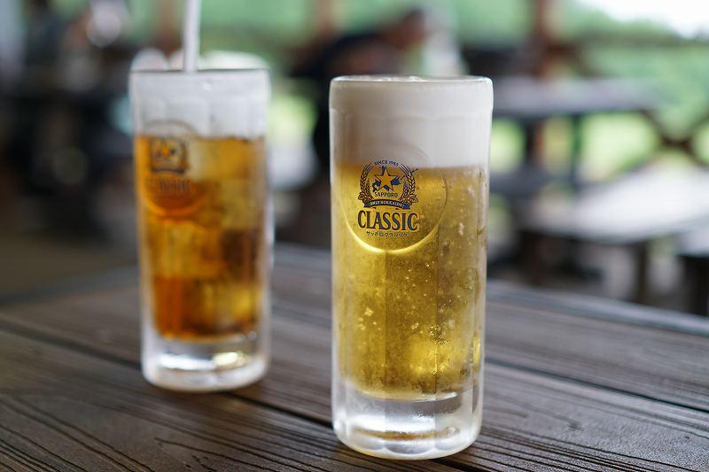 星に手のとどく丘キャンプ場のビール