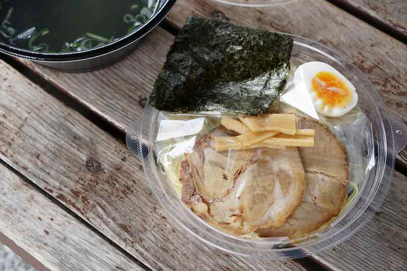 麺厨房あじさいの塩ラーメン(デリバリー)