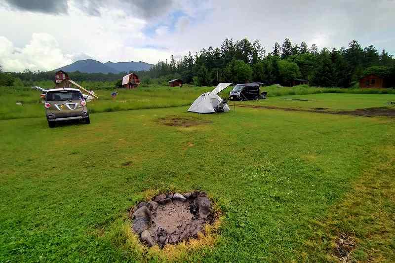 星に手のとどく丘キャンプ場の丘サイト