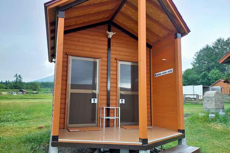 星に手のとどく丘キャンプ場のコインシャワー室