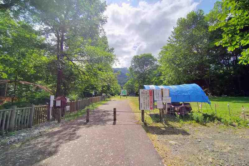 山部自然公園太陽の里のテントサイト