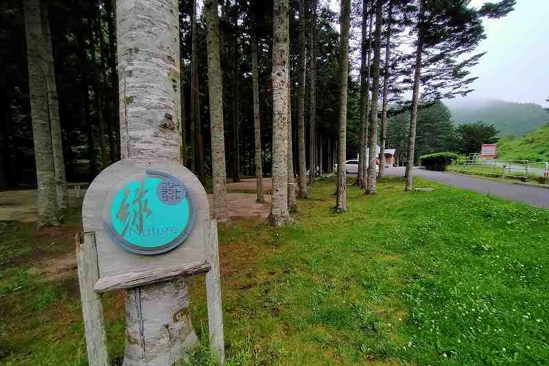 戸井ウォーターパークキャンプ場のフリーテントサイト