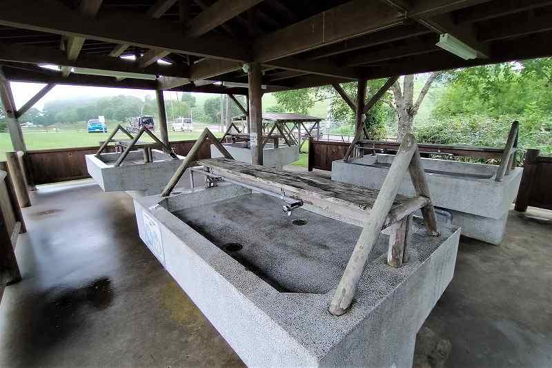 きじひき高原キャンプ場の炊事場