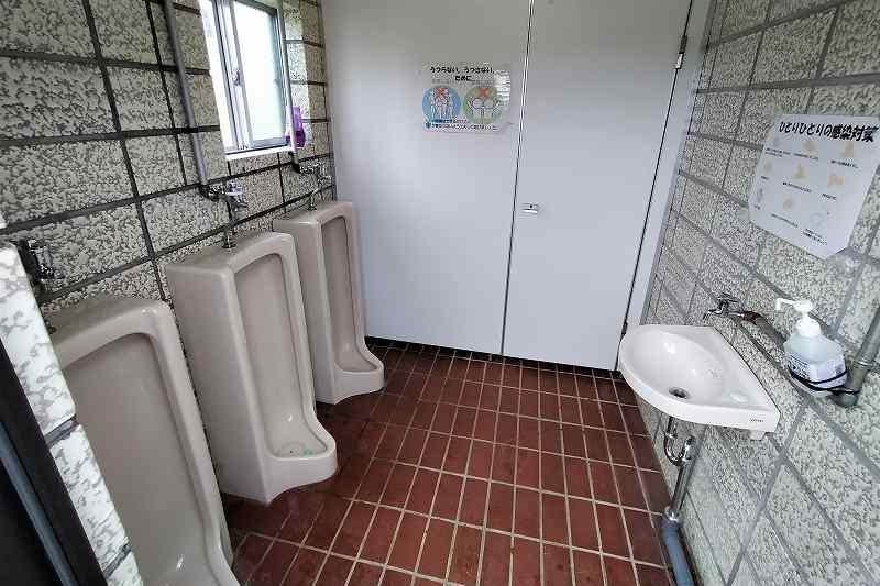 きじひき高原キャンプ場のトイレ