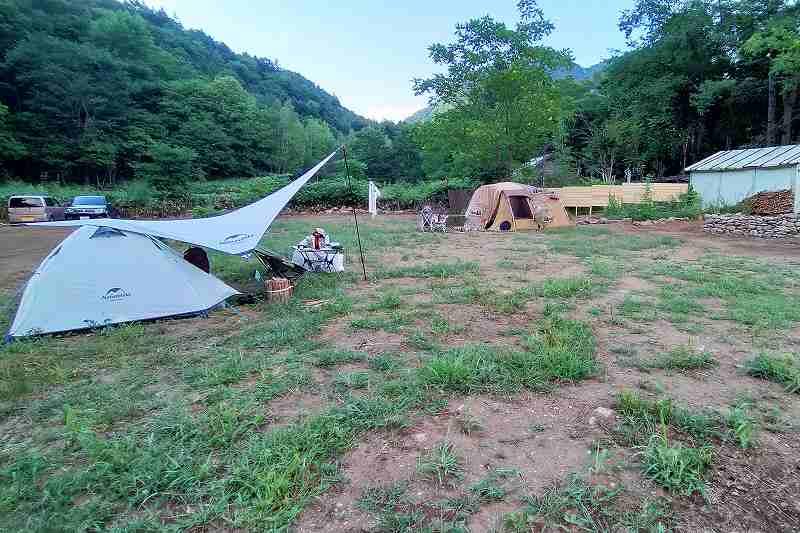 キャンプ場「晴好雨喜」のフリーサイト