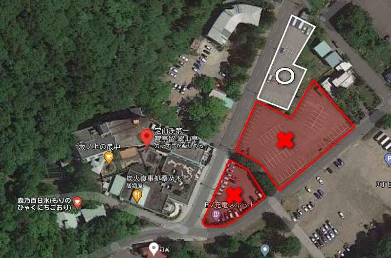 森乃百日氷の駐車場配置図