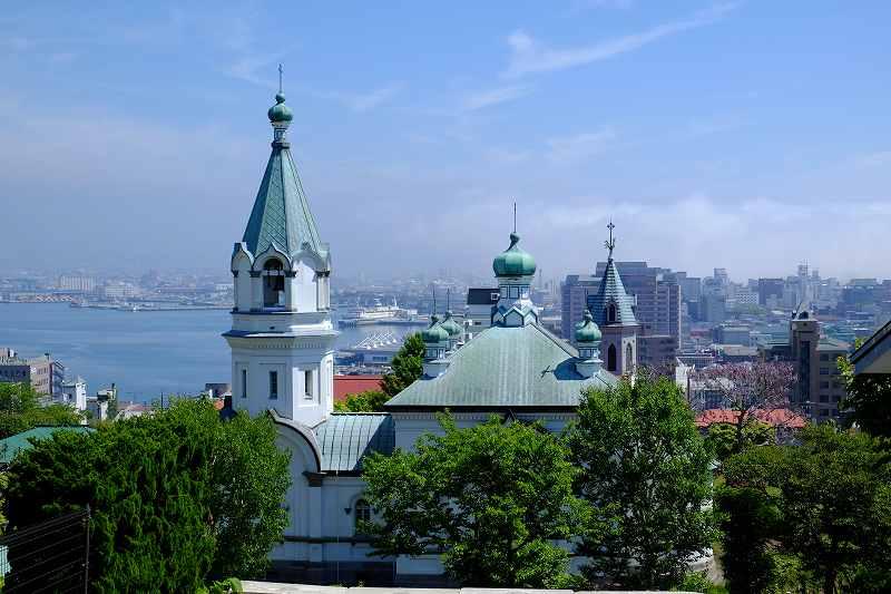 函館市内にあるハリストス正教会の外観
