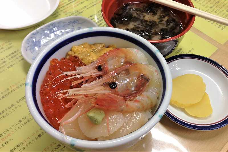 きくよ食堂の海鮮丼(ハーフサイズ)