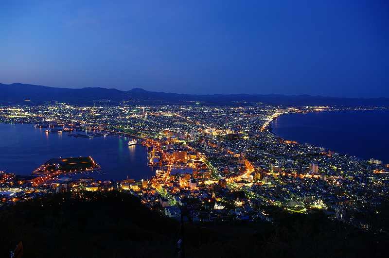 北海道三大夜景 函館山からの夜景
